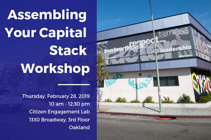 Workshop: Assembling Your Capital Stack