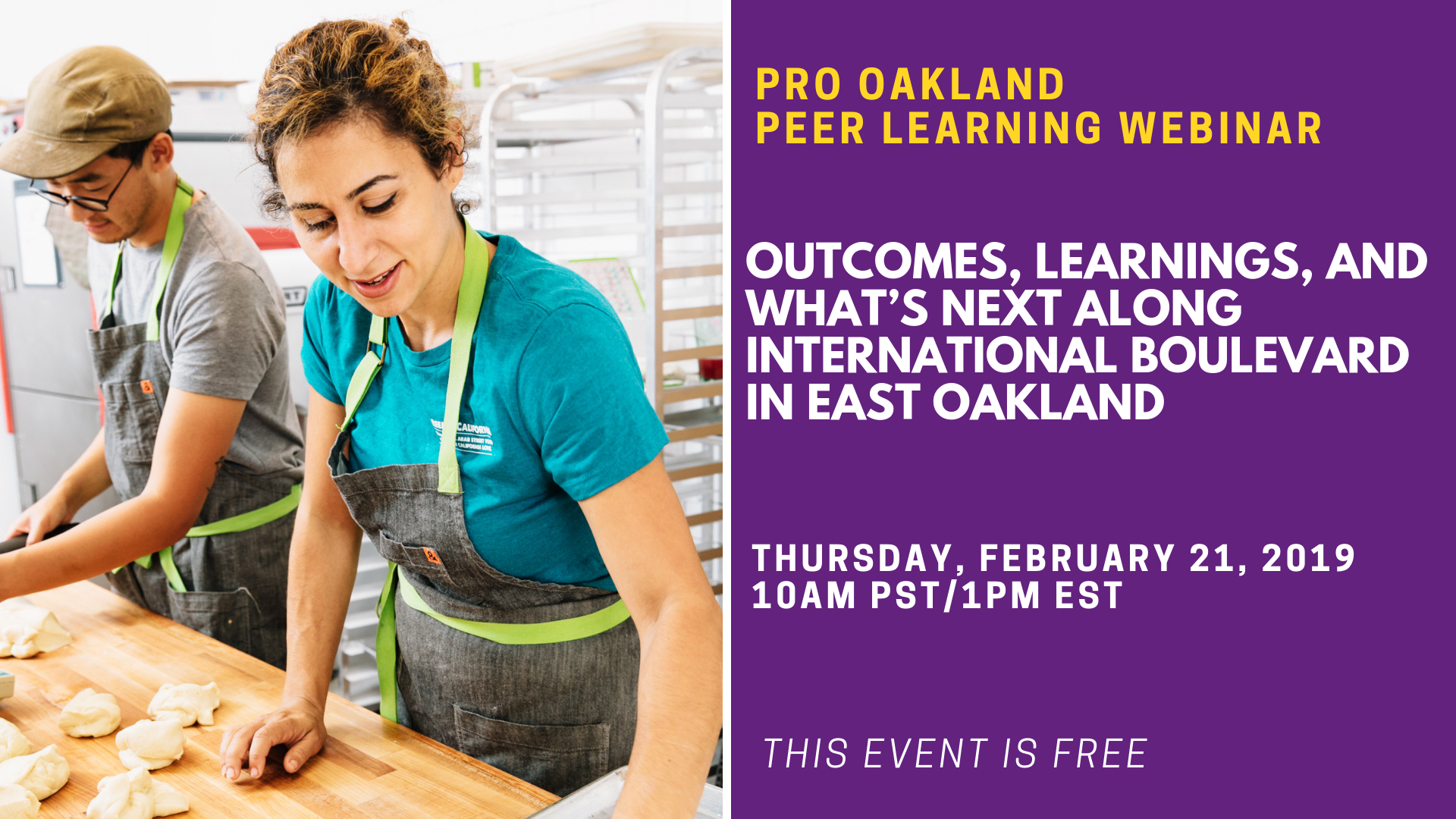 Webinar: PRO Oakland - Outcomes, Learnings, & What's Next Along International Blvd. in East Oakland