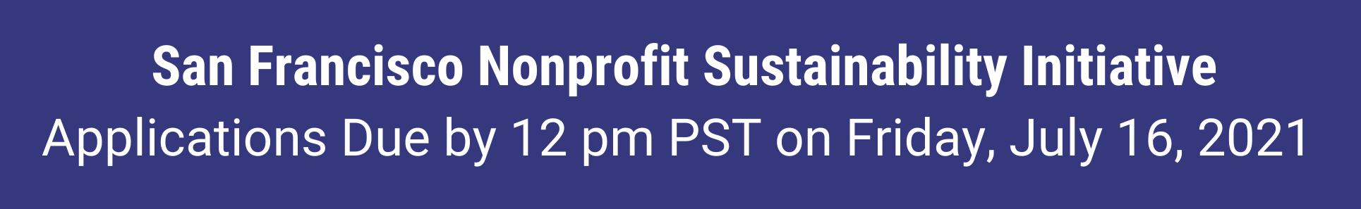 San Francisco nonprofit grant program