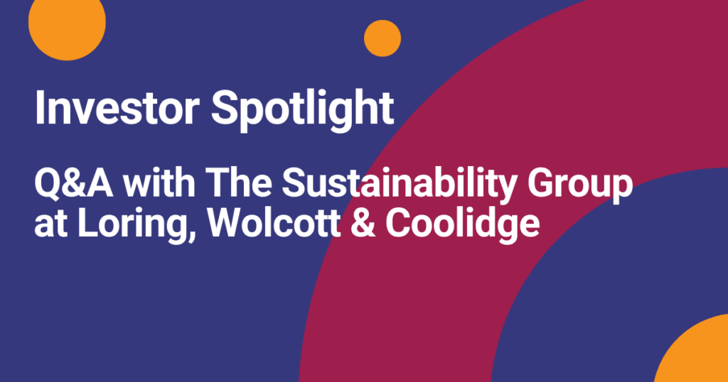 Learn about social impact investing with Community Vision and Loring, Wolcott & Coolidge